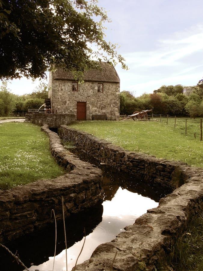 Vecchio laminatoio irlandese fotografia stock libera da diritti