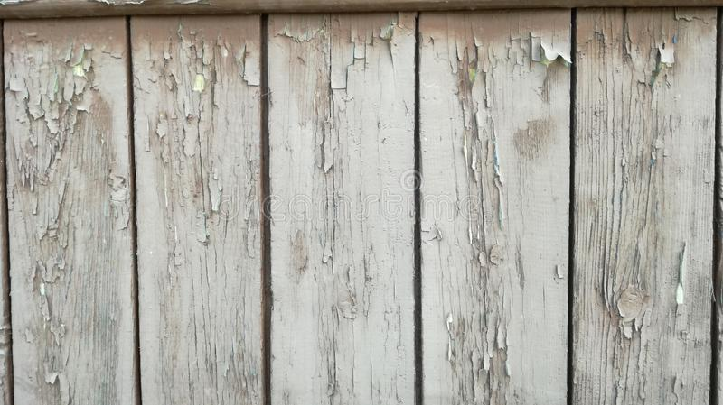Vecchio legno dipinto nel bianco fotografia stock