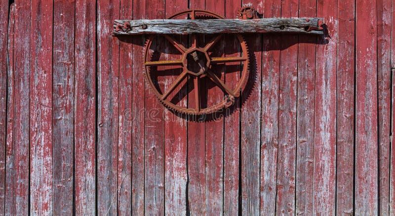 Vecchio, legno rosso di lerciume fotografia stock