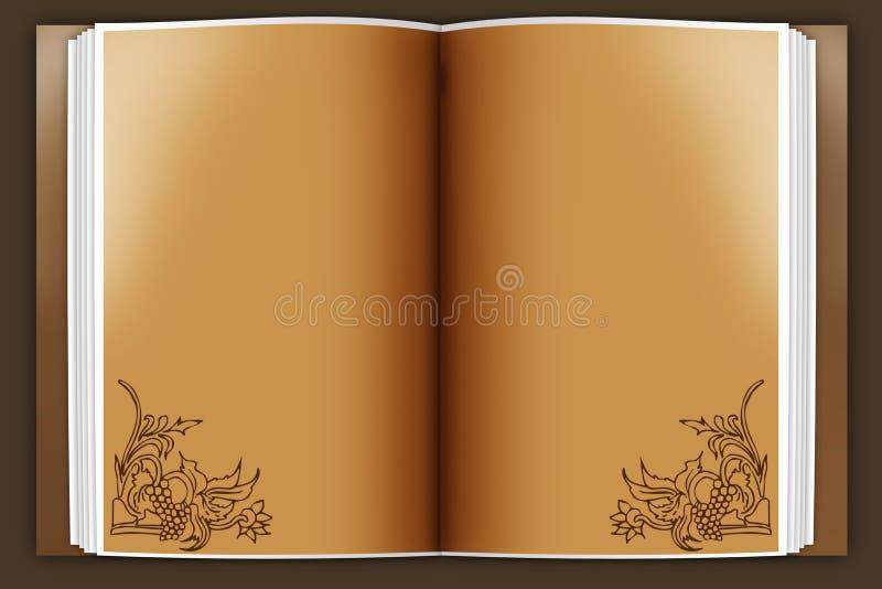 Vecchio libro illustrazione vettoriale
