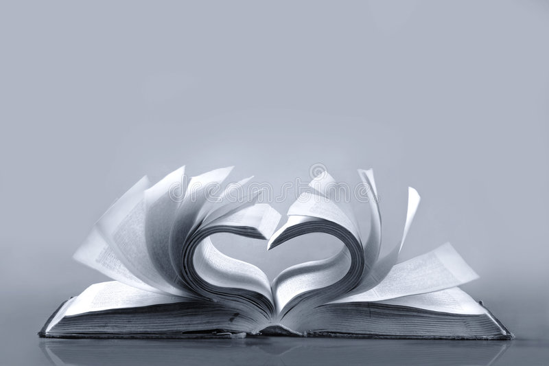 Vecchio libro. Amore fotografie stock libere da diritti