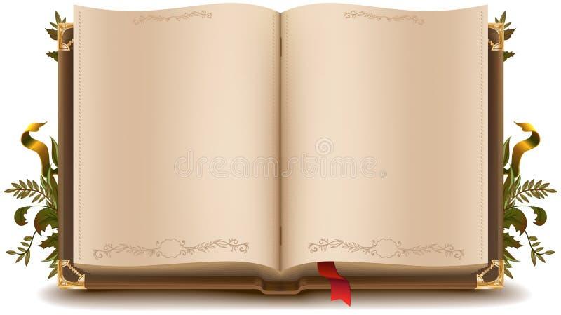 Vecchio libro aperto royalty illustrazione gratis