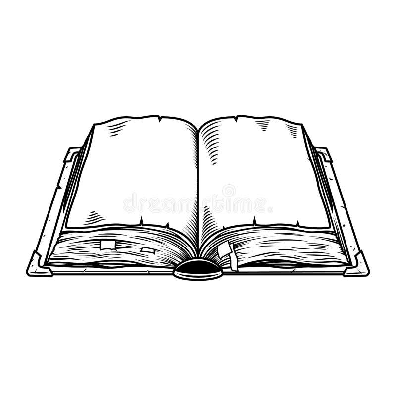 Vecchio libro dell'annata illustrazione vettoriale