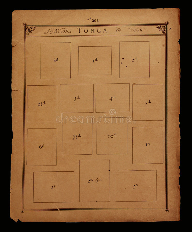 Vecchio libro di bollo fotografie stock libere da diritti