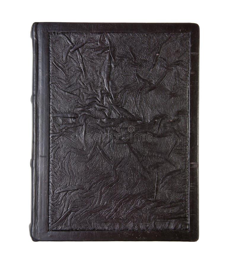 Vecchio libro di cuoio, struttura sgualcita immagini stock libere da diritti