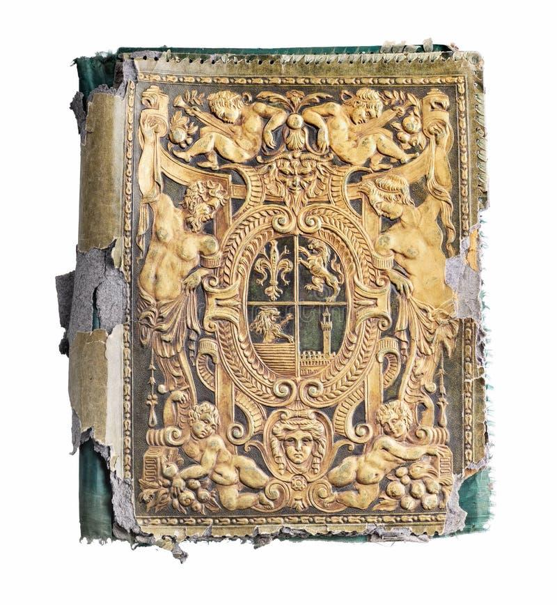 Vecchio libro impresso fotografia stock