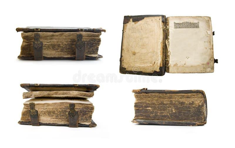 Vecchio libro medioevale, psalter fotografia stock