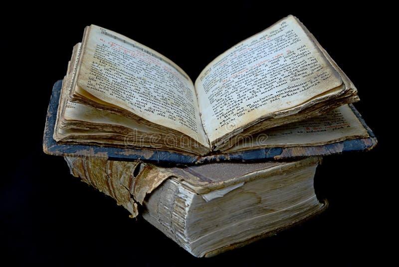 Vecchio libro religioso fotografia stock