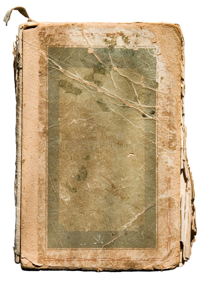 Vecchio libro stracciato su bianco fotografie stock libere da diritti