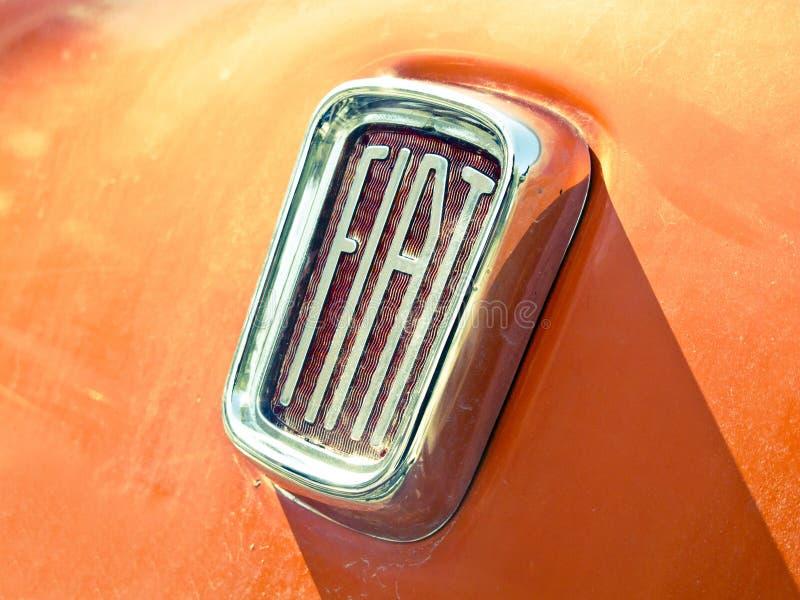 Vecchio logo di Fiat immagine stock libera da diritti
