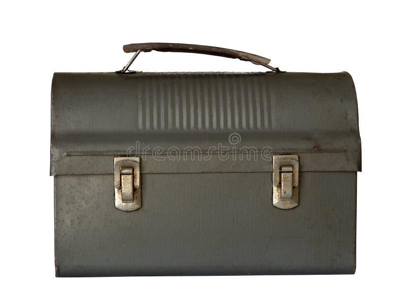 Vecchio Lunchbox del papà immagini stock
