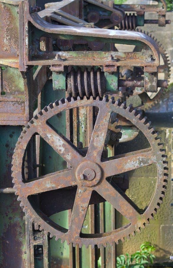 Vecchio macchinario arrugginito fotografia stock
