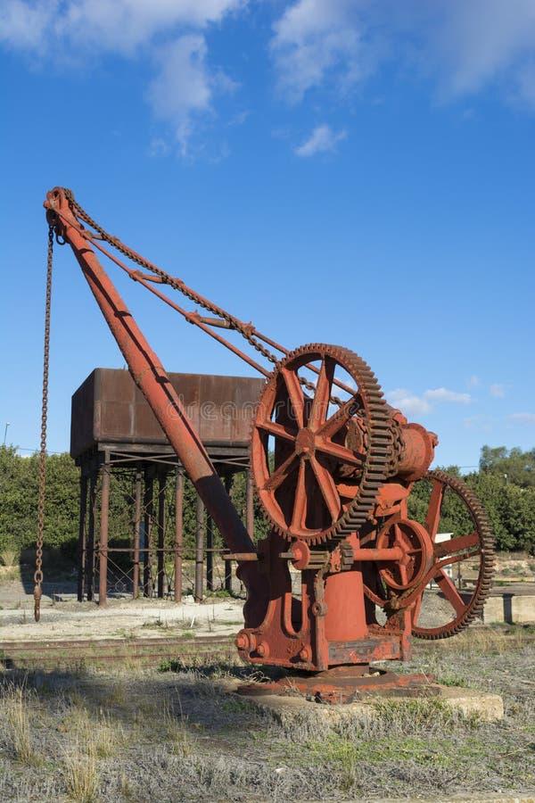 Vecchio macchinario di Rusing - stazione ferroviaria di Burra immagine stock