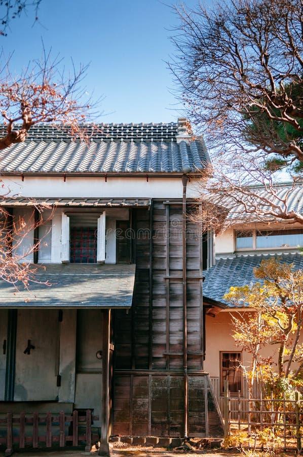 Vecchio magazzino giapponese d'annata Katori, Chiba, GIAPPONE immagini stock libere da diritti