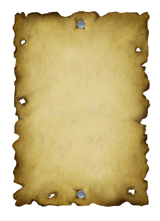 Vecchio manifesto carente illustrazione vettoriale