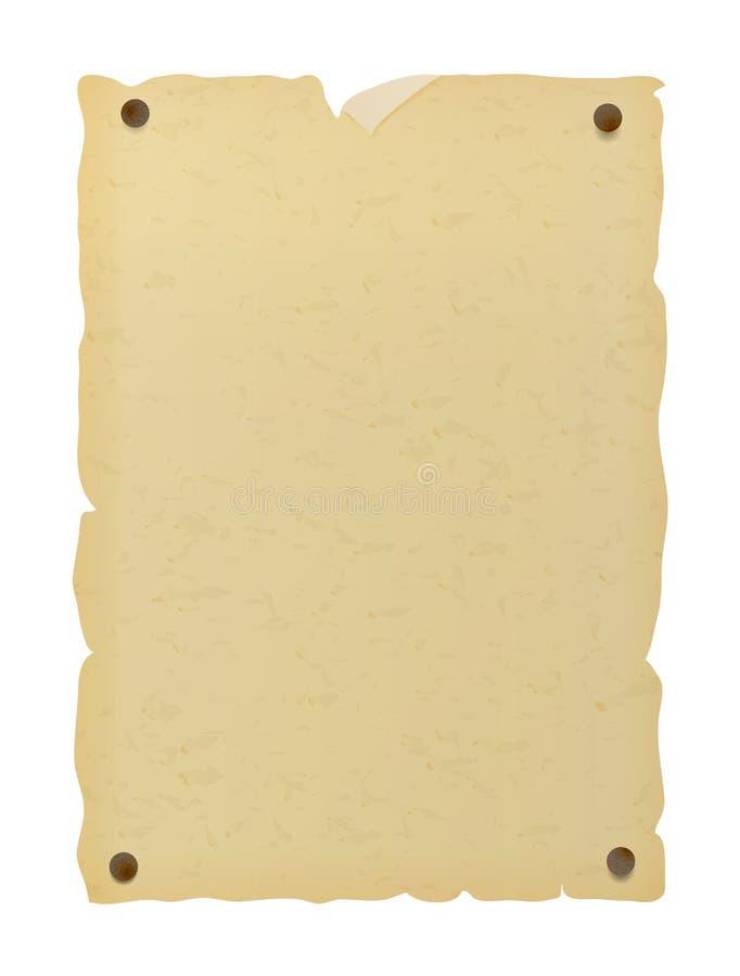 Vecchio manifesto di carta illustrazione di stock