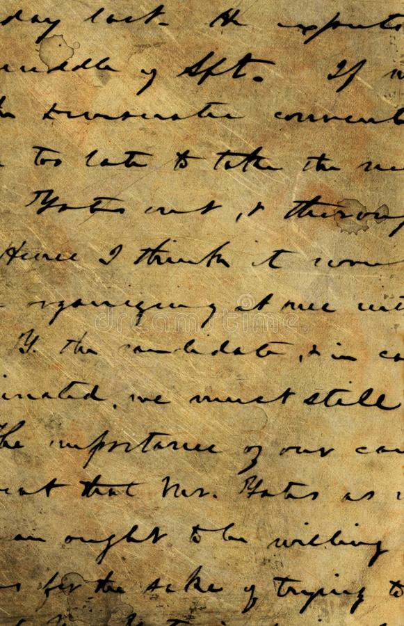 Vecchio manoscritto fotografia stock