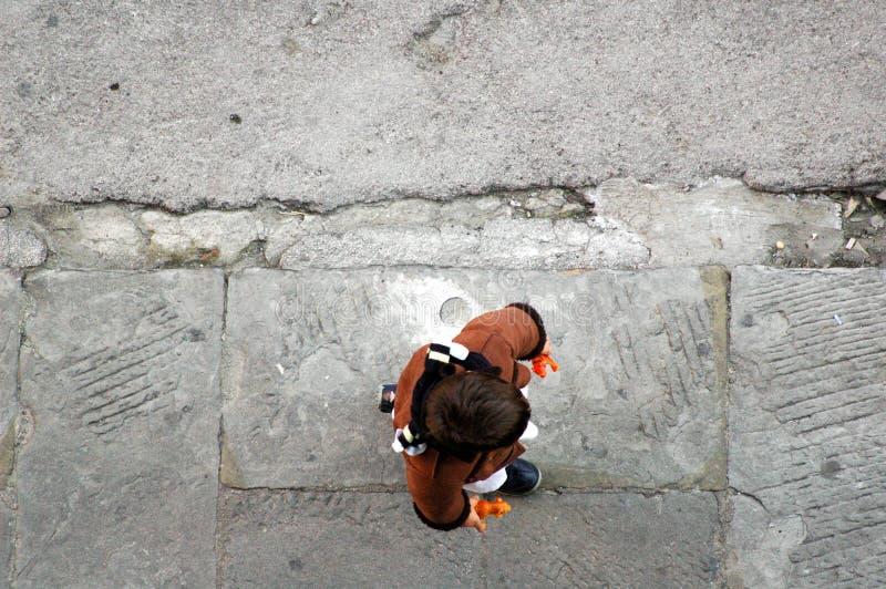 Vecchio marciapiede fotografia stock