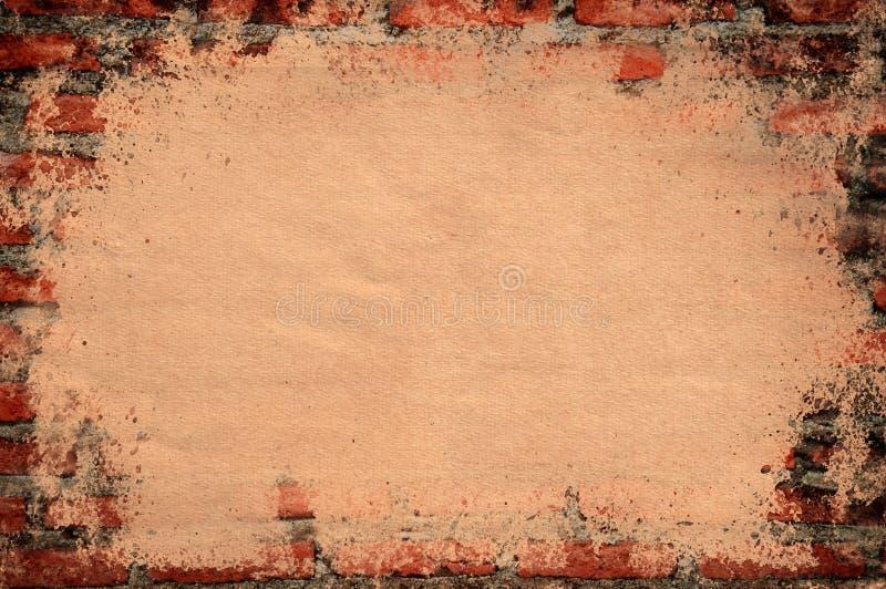 Vecchio mattone con spazio per il vostro testo illustrazione di stock