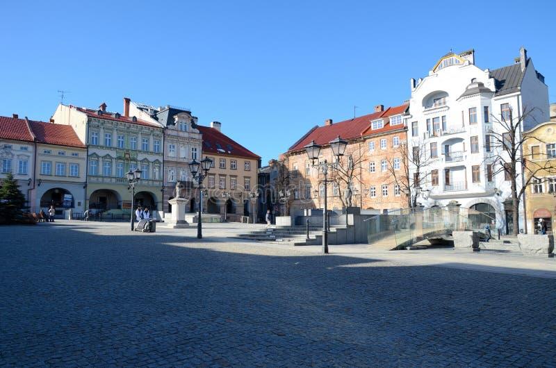 Vecchio mercato in Bielsko-Biala immagine stock