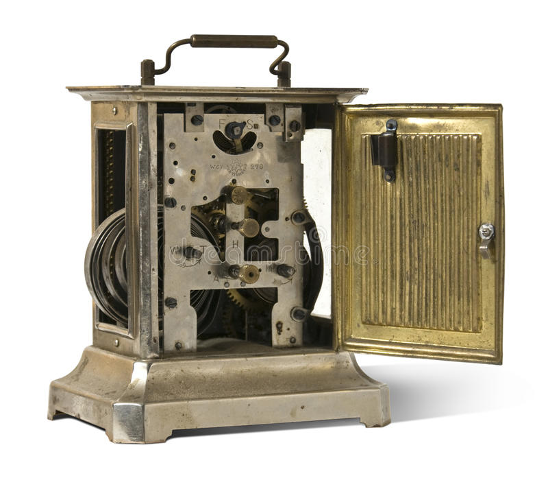Vecchio metallo clock2 immagine stock