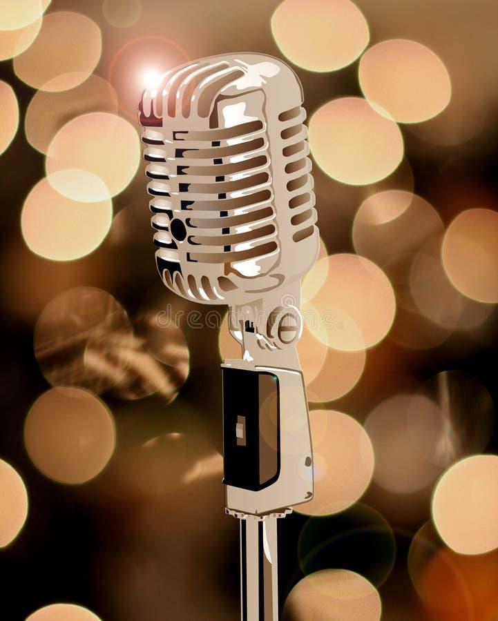 Vecchio microfono royalty illustrazione gratis