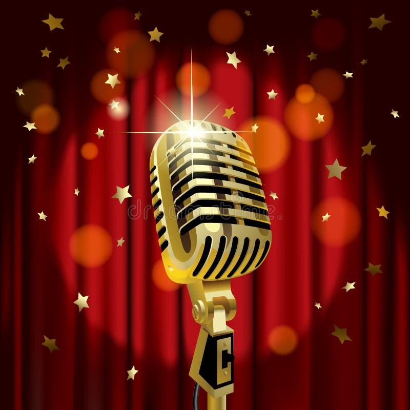 Vecchio microfono illustrazione vettoriale