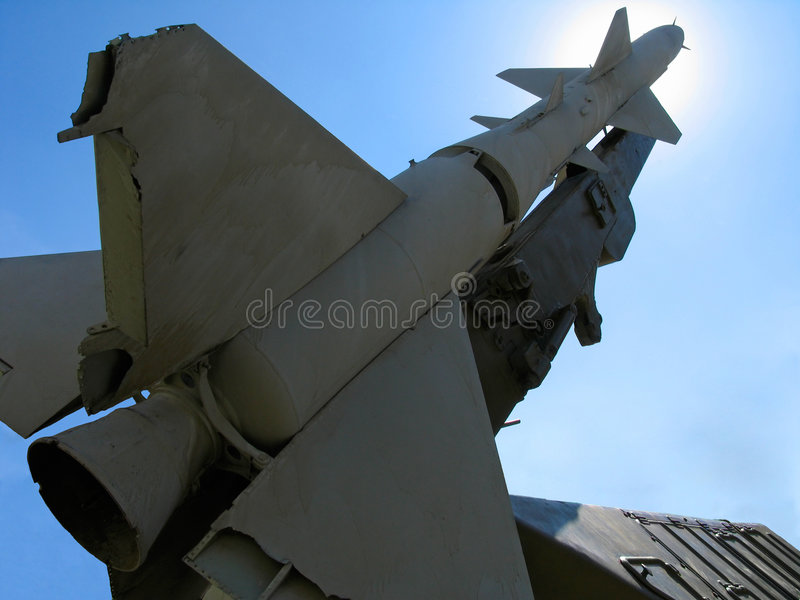 Vecchio missile balistico russo fotografia stock