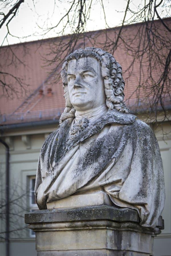 Vecchio monumento di Joann Sebastian Bach, Koethen immagini stock libere da diritti