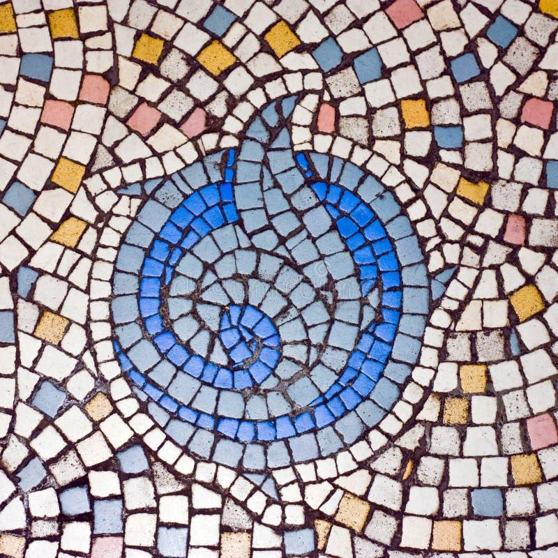 Vecchio mosaico fotografia stock
