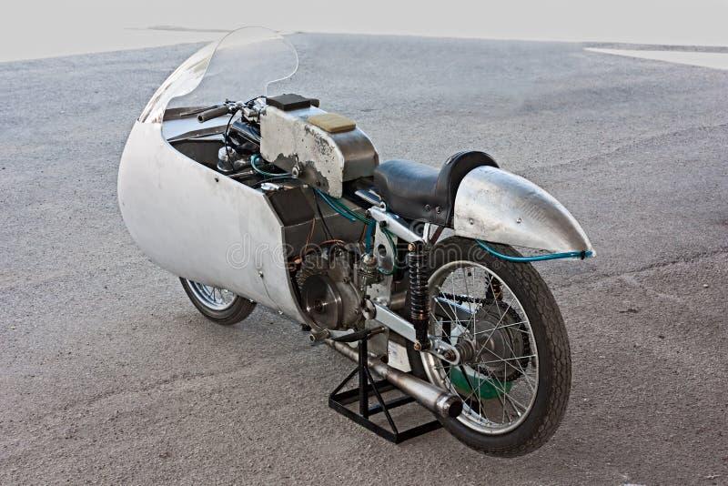 Vecchio motociclo di corsa Moto Guzzi fotografia stock libera da diritti