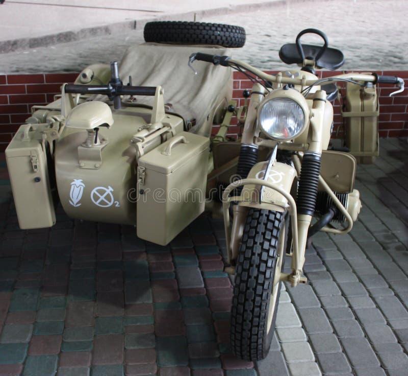 vecchio motociclo militare immagine stock libera da diritti