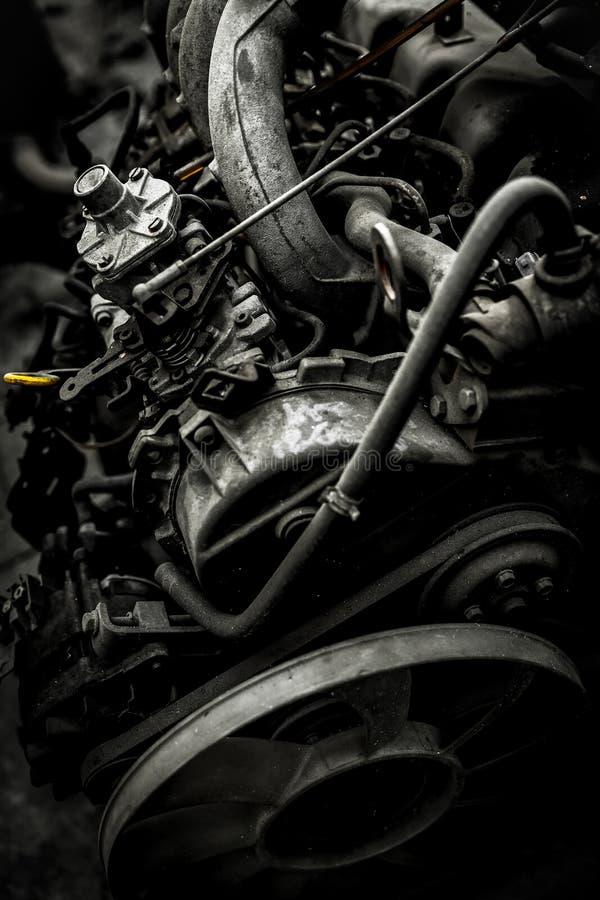 Vecchio motore arrugginito fotografia stock libera da diritti