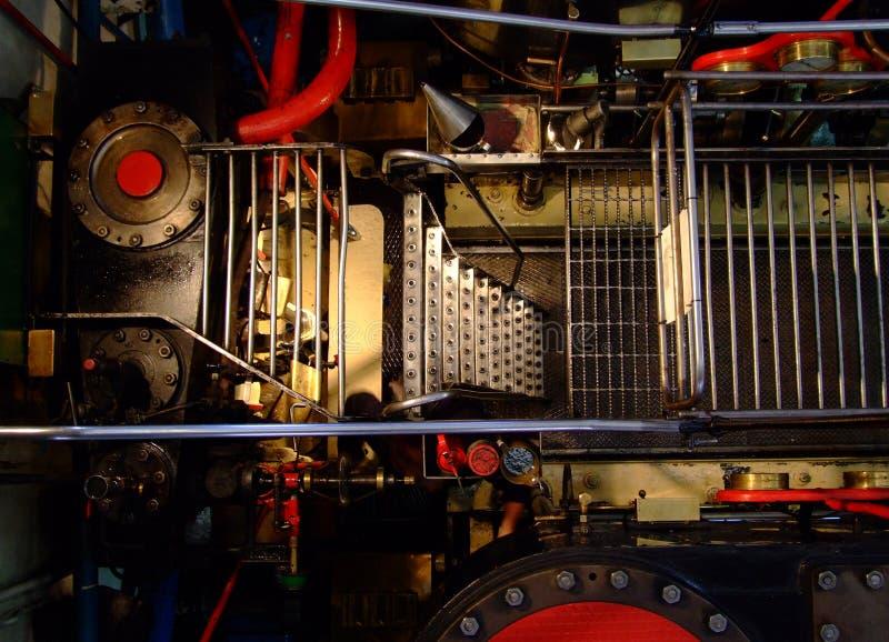 Vecchio motore del crogiolo di vapore fotografie stock libere da diritti