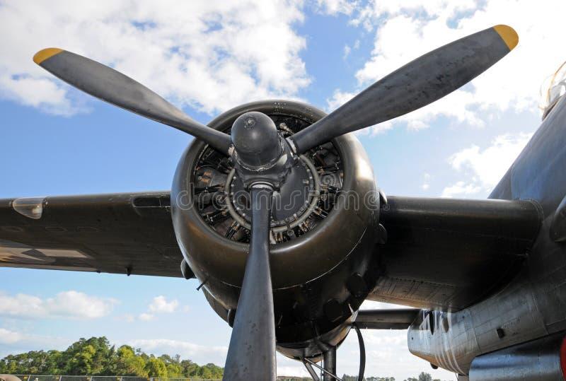 Vecchio motore dell'aeroplano fotografia stock
