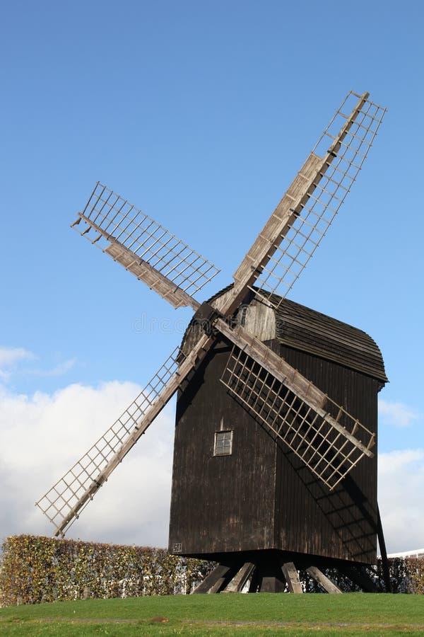 Vecchio mulino a vento di Aarhus, Danimarca fotografia stock libera da diritti