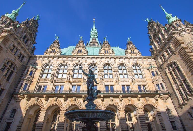 Municipio, Amburgo fotografie stock libere da diritti