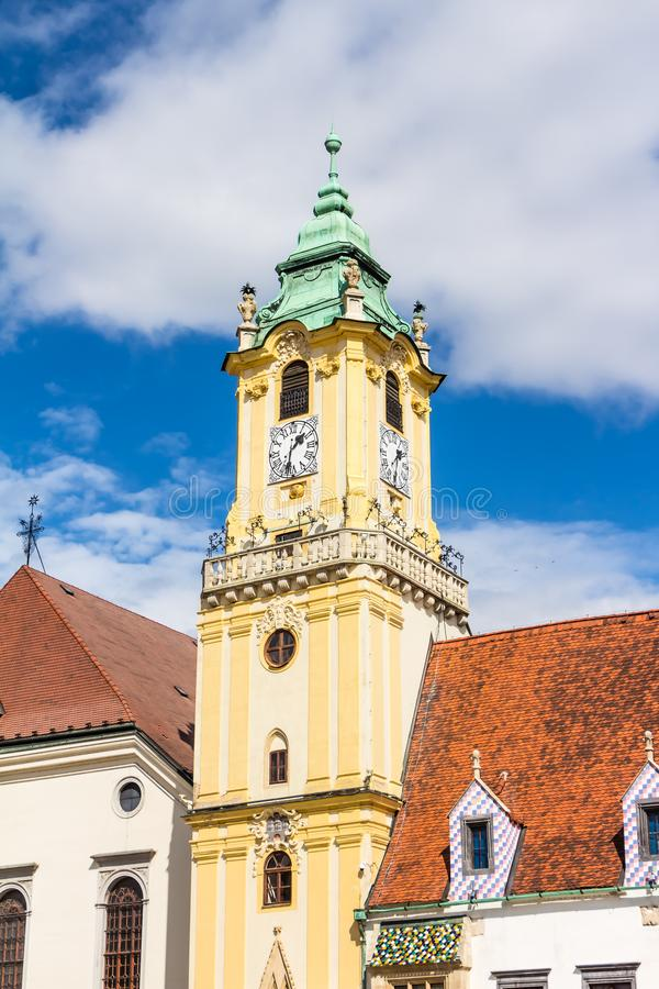 Vecchio municipio Bratislava fotografie stock