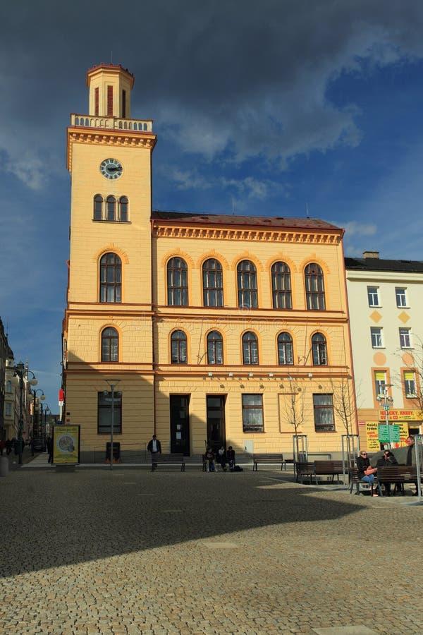 Vecchio municipio in Jablonec fotografia stock libera da diritti