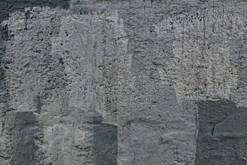 Vecchio muro di cemento triste incrinato fotografia stock libera da diritti