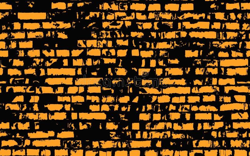Vecchio muro di mattoni illustrazione vettoriale