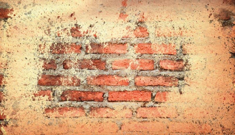 Vecchio muro di mattoni del vecchio coperchio di carta di struttura illustrazione di stock