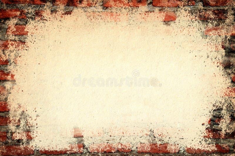 Vecchio muro di mattoni del vecchio coperchio di carta di struttura illustrazione vettoriale