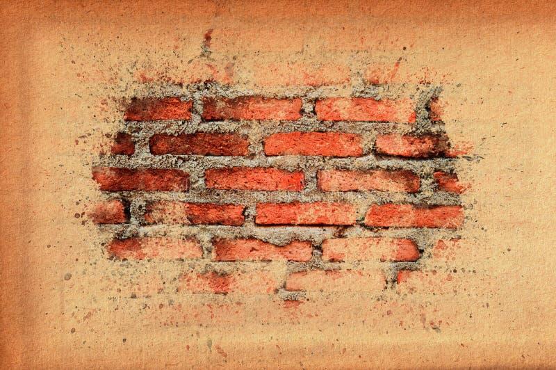 Vecchio muro di mattoni del vecchio coperchio di carta di struttura royalty illustrazione gratis
