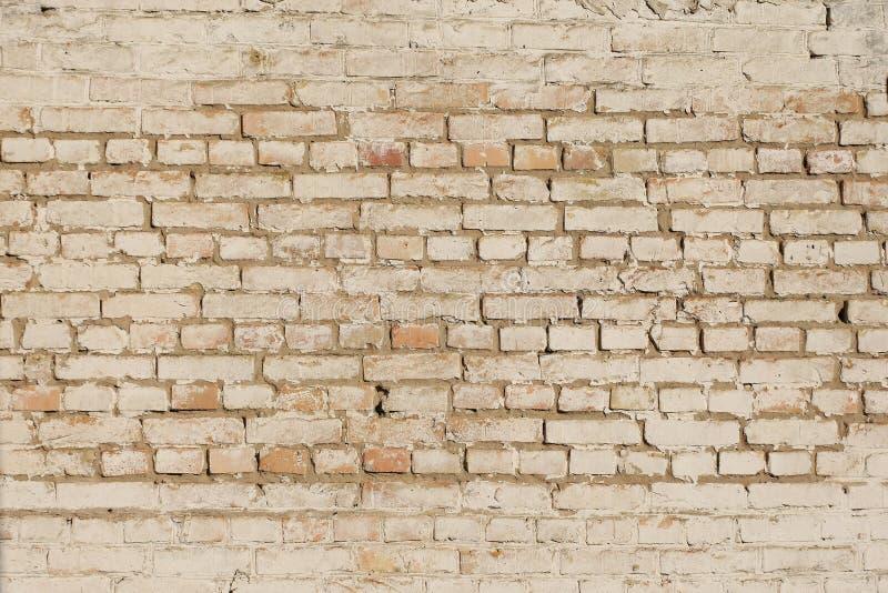 Vecchio muro di mattoni dipinto immagini stock libere da diritti