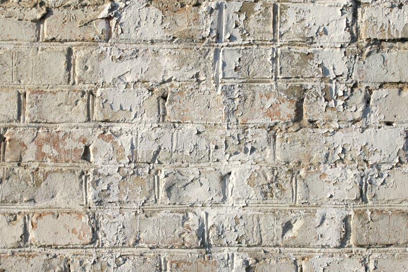Vecchio muro di mattoni dipinto, fondo fotografie stock