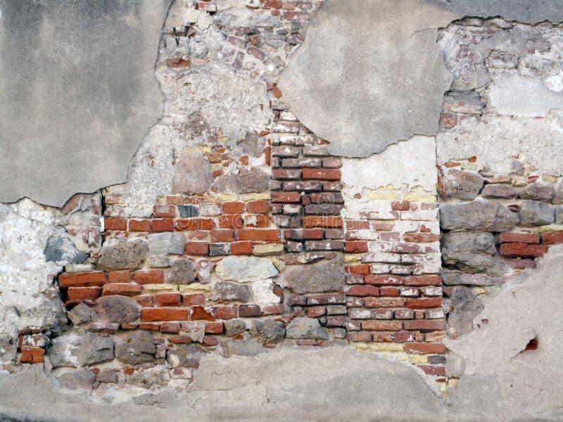 Vecchio muro di mattoni esposto fotografia stock