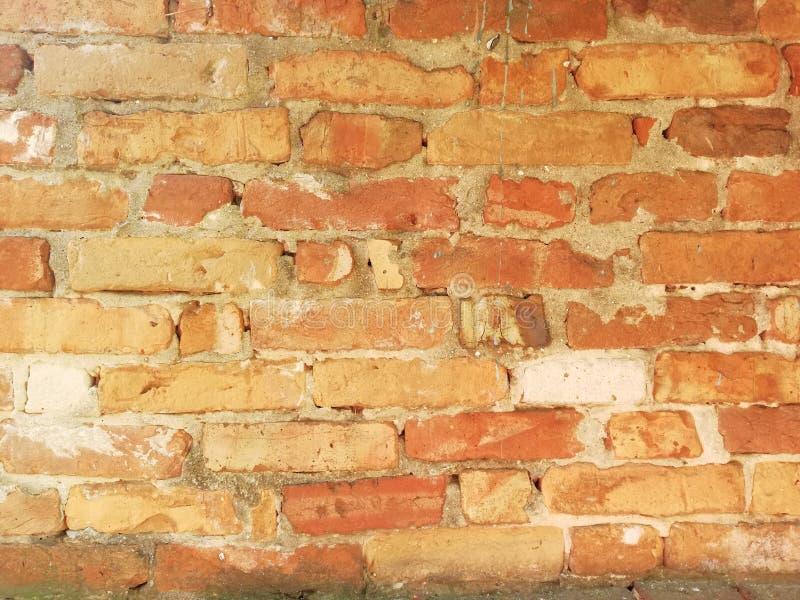 Vecchio muro di mattoni extant fotografie stock