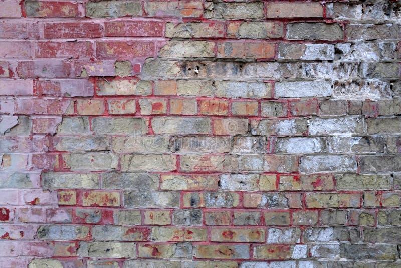 Vecchio muro di mattoni Priorità bassa per il vostro disegno fotografia stock