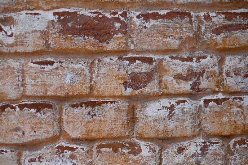 Vecchio muro di mattoni rosso fotografie stock